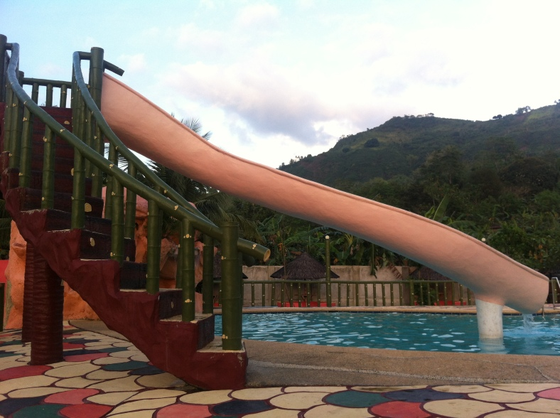 A pool won't be fun without a slide.. :D