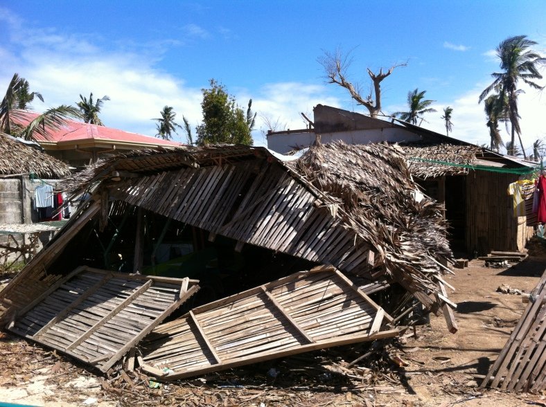 This is how devastated the houses were in the coastal area of Kabak,Bantayan.